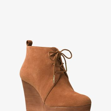 Pierce Lace-Up Suede Wedge | Michael Kors