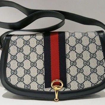 Authentic Vintage GUCCI GG Sherry Lined Shoulder Bag