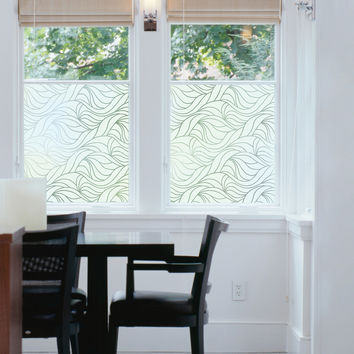 So into this design on Fab! Nouveau Swirl Static Window Film #FabForAll
