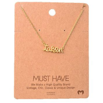 Must Have-Taken Necklace, Gold
