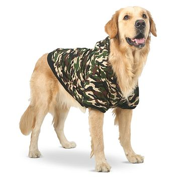 Winter jacket Camouflage for large dogs