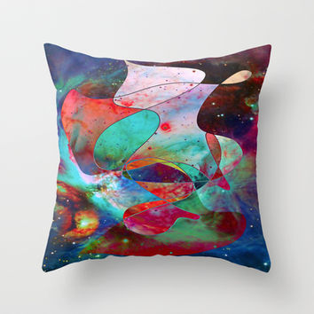 Time Warped Throw Pillow by DuckyB (Brandi)