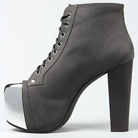 Jeffrey Campbell Heels Chrome Toe in Black