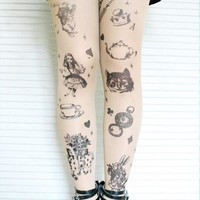 Alice In Wonderland Tights
