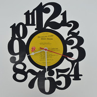 Music Art Unique Handmade Vinyl Record Clock (artist is The Rolling Stones)