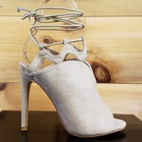 "Solly Nude Open Toe Strappy - 4.25"" Stiletto High Heel Shoe"
