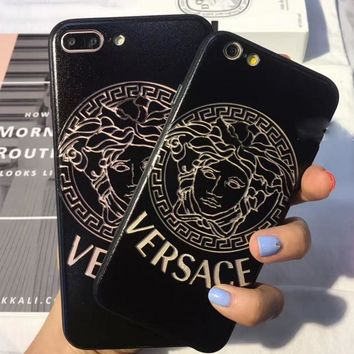 One-nice™ Versace Hollow out iPhone Phone Cover Case For iphone 6 6s 6plus 6s-plus 7 7plus