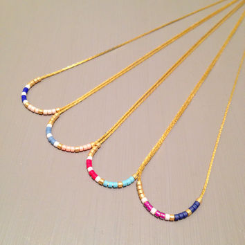 Simple necklace layered necklace gold everyday necklace minimal necklace simple jewelry