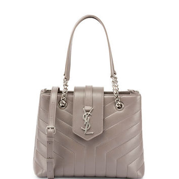 Saint Laurent Loulou Small Quilted Leather Tote Bag