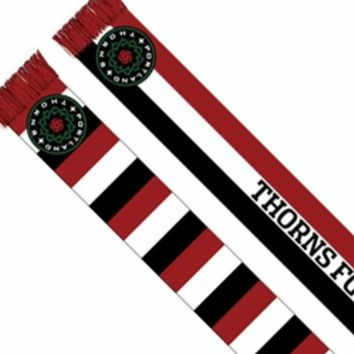 Portland Thorns FC Striped Scarf - Red/White/Black