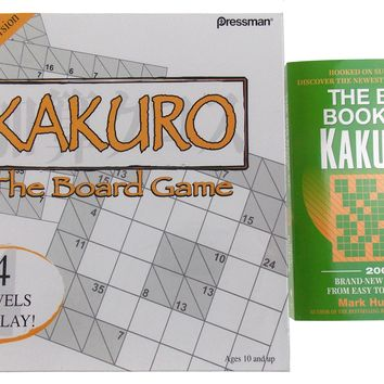 Kakuro Board Game & Big Book Set Sudoku Crossword Puzzle Family