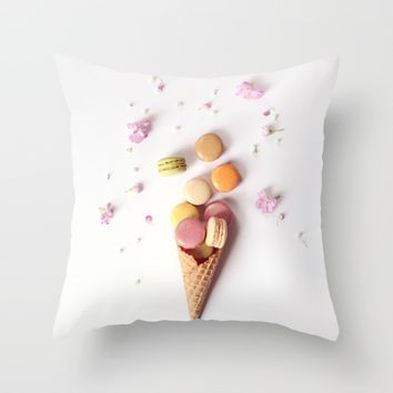 Macaron Cone Throw Pillow by kelly*n photography