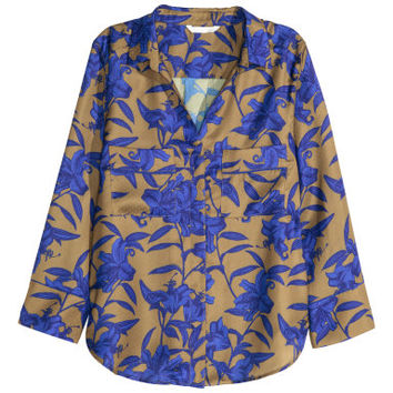 H&M Patterned Satin Blouse $34.99
