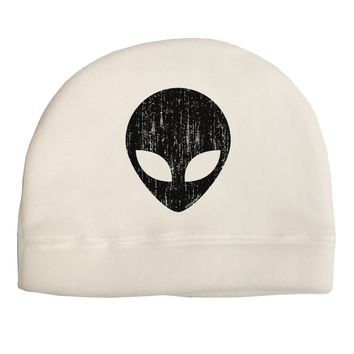 Extraterrestrial Face - Alien Distressed Adult Fleece Beanie Cap Hat by TooLoud