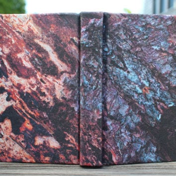 Small Bark Sketchbook - Psychedelic Fabric Covered Soft Un-lined Journal