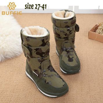 Girls' Winter Boots camouflage waterproof popular