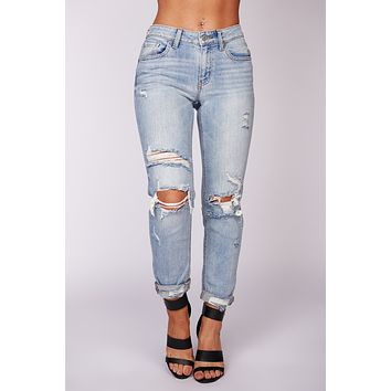 Proof Of Sass Distressed Jeans (Light Wash)
