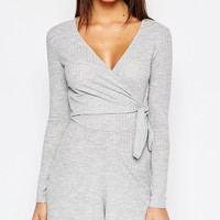 Daisy Street Tie Front Playsuit