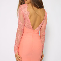 Vortex Dress - Peach