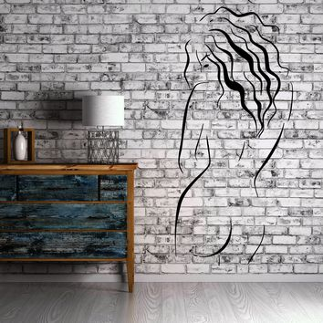 Beautiful Naked Woman Bare Back Wall Decor Mural Vinyl Decal Art Sticker Unique Gift M573