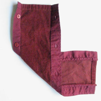 Bike Cozy Burgundy Corduroy  Sewn With Upcycled by GretaHoneycutt