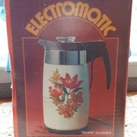 RARE HTF SEALED BOX CORNING WARE P-80-EP-15 TROPIC SUMMER ELECTROMATIC COFFEE