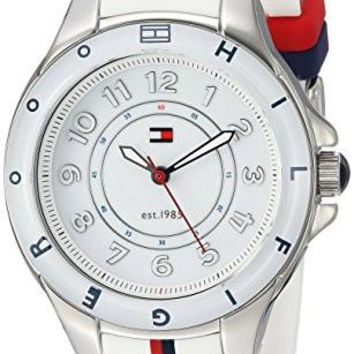 Tommy Hilfiger Women's Watch 1781271 Stainless Steel Watch with White Silicone Band