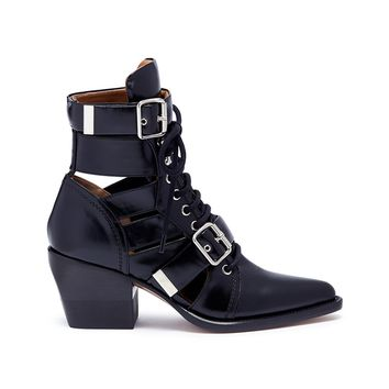 Chloé | 'Rylee' lace-up leather ankle boots | Women | Lane Crawford - Shop Designer Brands Online