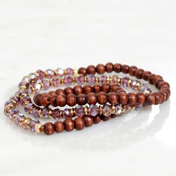 Stone Wrap Bracelet Brown