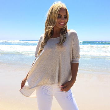Freedom Jersey Blouse In Cream
