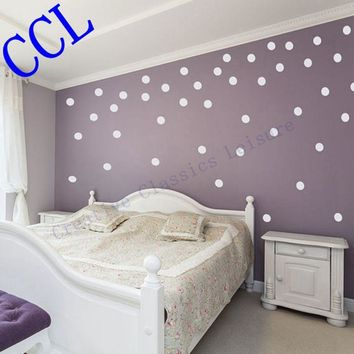 Free shipping Polka Dot wall stickers home decor. polka dot art wall decals - circle decals for walls f2074