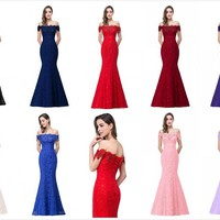 Long Formal Mermaid Dress Homecoming Prom Gown