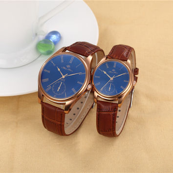Designer's Stylish Unisex Couple Fashion Watch = 4815487300