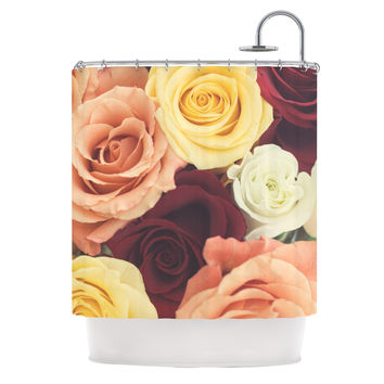 "Libertad Leal ""Vintage Roses"" Shower Curtain"