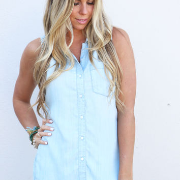 Daphne Denim Chambray Tank