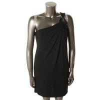 MICHAEL Michael Kors Womens Matte Jersey One Shoulder Cocktail Dress
