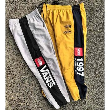 Vans skis thin monochromatic baggy sport breathable men's bodywear logo print style casual joker pants