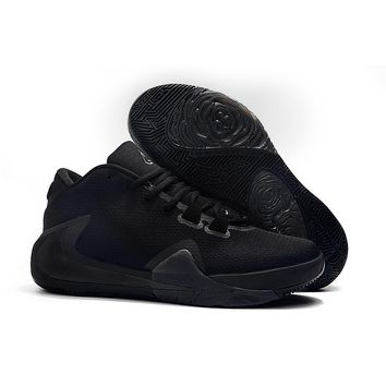 Nike Zoom Greek Freak 1 Giannis Antetokounmpo Triple Black Basketball Shoes - Best Deal Online