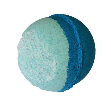 Sun of a Beach Bath Bomb, Beachy Bath Bomb, Blue Bath Bomb with Sea Kelp and Dead Sea Salt, Cruelty Free, Vegan