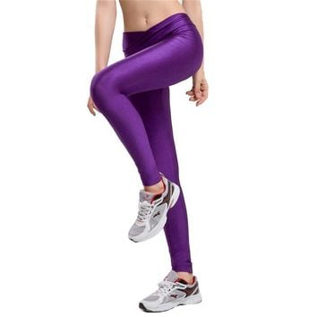 High Waist Candy Colors Neon Sportswear Workout Leggings
