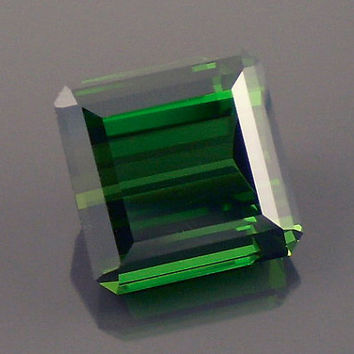 Tourmaline: 6.17ct Green Emerald Shape Gemstone, Natural Hand Made Faceted Gem, Loose Precious Mineral, AAA Cut Crystal Jewelry Supply 20201