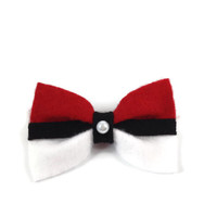 Pokemon Anime Original Pokeball Clip On Bow Tie
