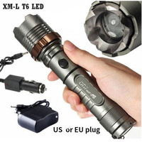 18650 Battery Included Ultra Bright Cree Xml T6 Led Rechargeable Flashlight Torch Ac Car Charger 18650 Battery Size 1 Us Plug Size 2 Eu Plug