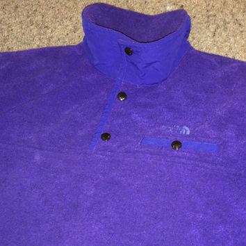 Sale!! Vintage 1980s 1990s THE NORTH FACE purple jacket Super Warm Tnf Coat Windbreaker Made in Usa
