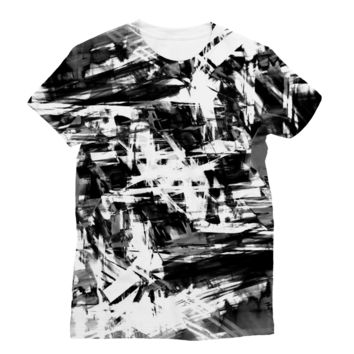 Black Smugded Ink AWDis Sublimation T-Shirt