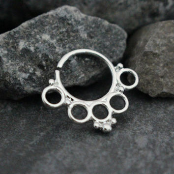 Tribal Septum Ring, Septum Piercing, Cartilage Hoop Earring, Cartilage Ring, Helix Piercing, Helix Ring, Conch Ring, Conch Jewelry,