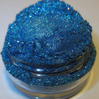 20% OFF CHRISTMAS SALE Blue Grenade Blue Sparkle Glitter Natural Mineral Eyeshadow Mica Pigment 5 Grams Lumikki Cosmetics