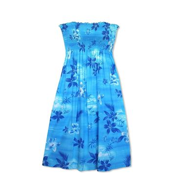 Aurora Blue Moonkiss Hawaiian Dress