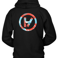 Twenty One Pilots Watercolor Logo Hoodie Two Sided