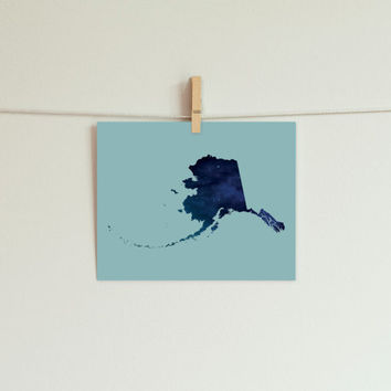 Alaska Print in Galaxy Pattern // Alaska Decor // Alaska Art // The Last Frontier